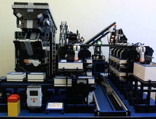 LEGO kocka válogató gép LEGO-ból