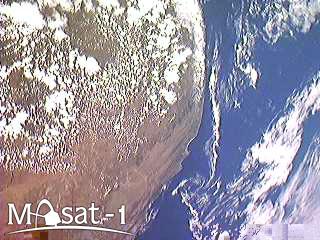A Masat-1 első, Földet ábrázoló űrfelvételén Dél Afrika látható.