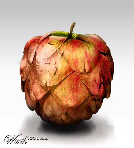 Photoshop gyümölcs: articsóka-alma