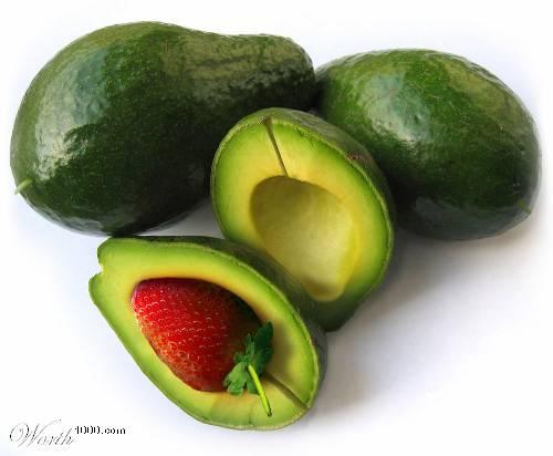 Photoshop gyümölcs: avokádó-eper