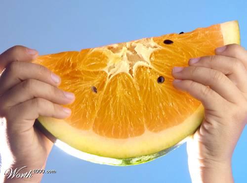 Photoshop gyümölcs: dinnye-citrom