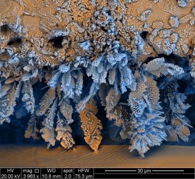 Elektronmikroszkópos fotó - Vas oxid