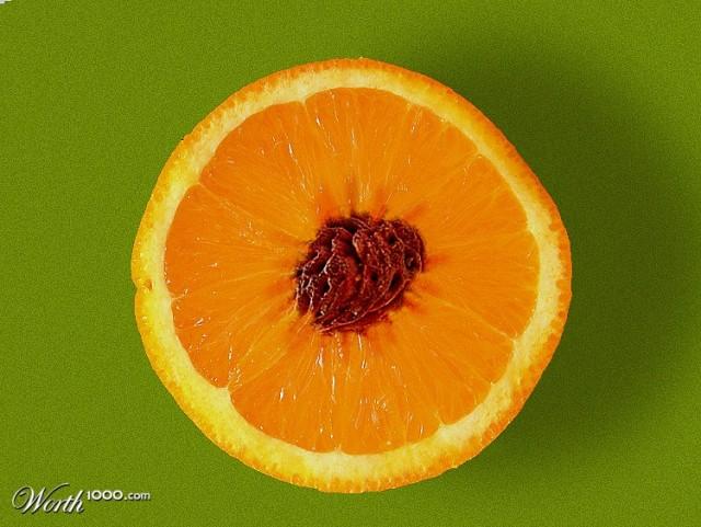 Photoshop gyümölcs: narancs-barack