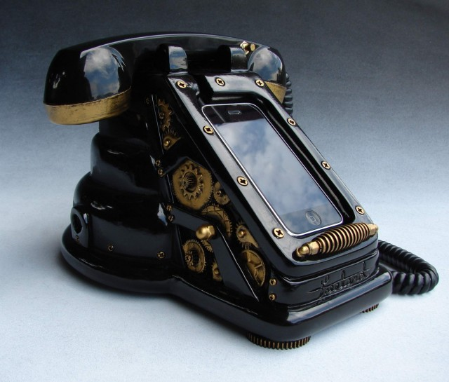 iRetrofone Steampunk - iPhone dokkoló