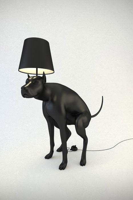 Kakiló kutya lámpa